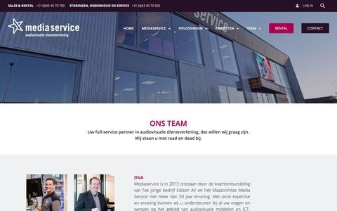 Screenshot of Team Page mediaservicemaastricht.nl - Team - Media Service Maastricht - Ontmoet ons team! - captured Sept. 27, 2018