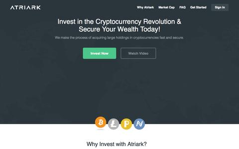 Screenshot of FAQ Page Login Page atriark.com - Atriark | Invest in the Cryptocurrency Revolution & Secure Your Wealth Today! - captured Oct. 4, 2014