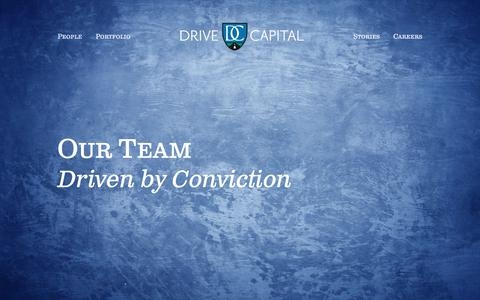 Screenshot of Team Page drivecapital.com - Drive Capital - captured June 5, 2017