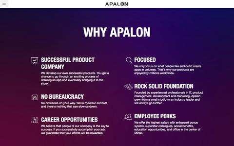 Screenshot of Signup Page apalon.com - Apalon Jobs – Discover Your Next Career - captured Sept. 19, 2014