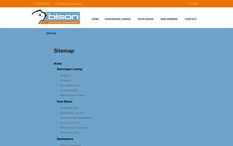 Screenshot of Site Map Page bison-powered.nl - Sitemap   Bison - captured Oct. 18, 2018