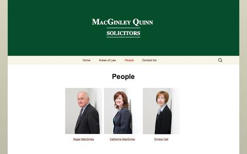 Screenshot of Team Page macginleyquinn.com - People | MacGinley Quinn Solicitors - captured Sept. 30, 2014