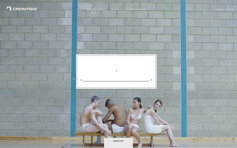 Screenshot of Home Page cinematique.com - Cinematique - captured July 11, 2014
