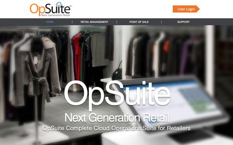Screenshot of Home Page opsuite.com - OpSuite Retail Operations and POS - captured Oct. 26, 2017