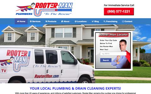 Screenshot of Products Page rooterman.com - Rooter-Man | drain cleaning services, plumbing, emergency plumber - captured Sept. 25, 2014