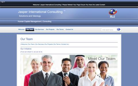 Screenshot of Team Page jasperglobal.com - Our Team :: Jasper International Consultancy - captured April 7, 2016