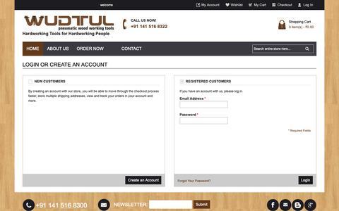 Screenshot of Login Page wudtul.com - Customer Login - captured Oct. 20, 2018