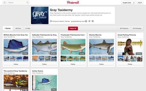 Screenshot of Pinterest Page pinterest.com - Gray Taxidermy on Pinterest - captured Oct. 23, 2014