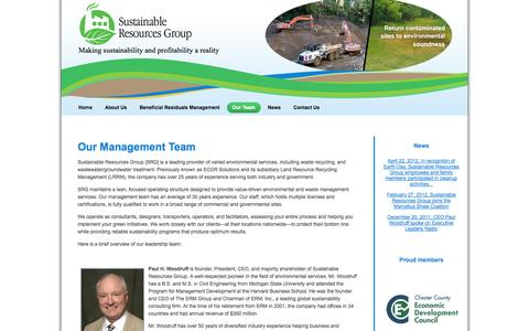 Screenshot of Team Page sustainableresourcesgroup.com - Expert environmental-remediation team serving industry and government - captured Oct. 7, 2014