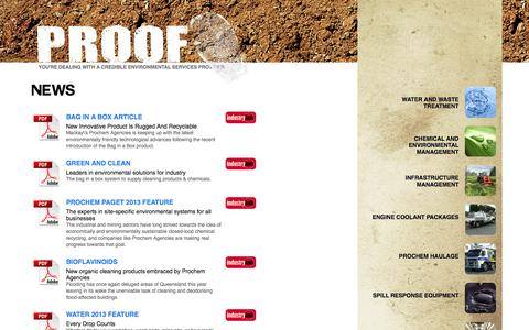 Screenshot of Press Page prochemagencies.com - Prochem Agencies - Mackay - Queensland - captured Sept. 30, 2014