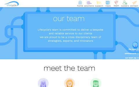 Screenshot of Team Page lifecycle-software.com - Lifecyle Software | Our Team - captured Nov. 10, 2018