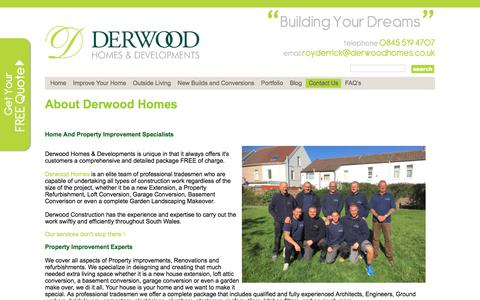 Screenshot of About Page derwoodhomes.co.uk - About Us - Derwood Homes - captured Oct. 12, 2017