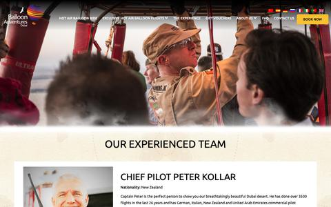 Screenshot of Team Page ballooning.ae - Our Experienced Team – Hot Air Balloon Rides Dubai - captured Oct. 5, 2018
