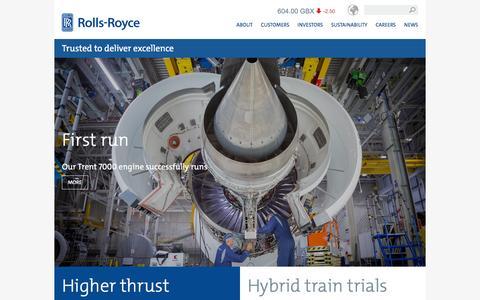 Screenshot of Home Page rolls-royce.com - Rolls-Royce - captured Dec. 2, 2015