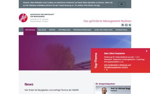 Screenshot of Press Page hdwm.de - Aktuelles   HdWM - captured Sept. 29, 2018