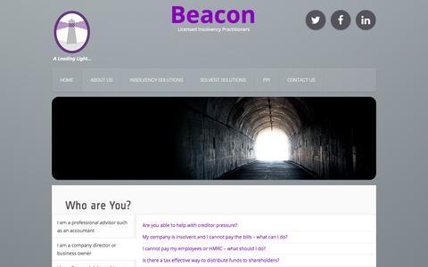 Screenshot of Home Page beaconllp.com - Home | Beacon - captured Oct. 5, 2014