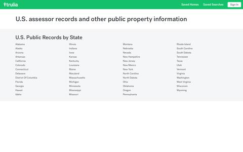U.S. Assessor Records and Property Information | Trulia