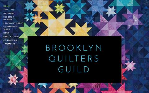Screenshot of Home Page quiltbrooklyn.org - Brooklyn Quilters Guild - captured March 9, 2016