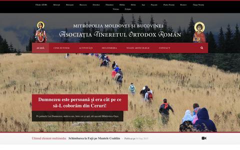 Screenshot of Home Page ator-mmb.ro - ATOR – Asociația Tineretul Ortodox Român - captured Sept. 19, 2015