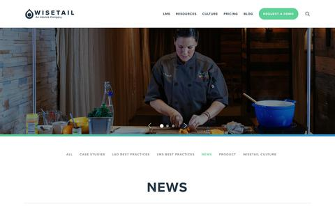 Screenshot of Press Page wisetail.com - News Archives - Page 2 of 4 - Wisetail LMS - captured April 17, 2019