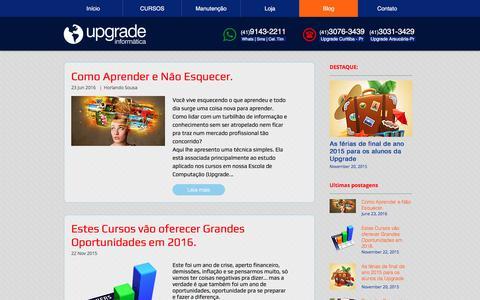 Screenshot of Blog cursosupgrade.com - Notícias, dicas e truques de Informática - captured Dec. 19, 2016