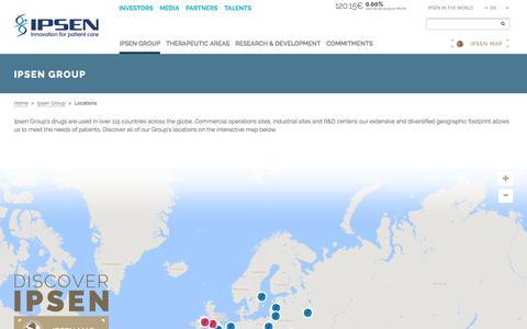 Screenshot of Locations Page ipsen.com - Locations - Ipsen Group - captured June 8, 2017
