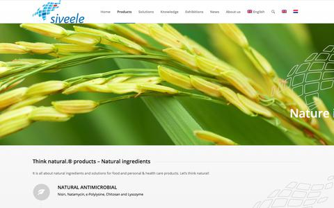 Screenshot of Products Page siveele.com - Products - Siveele - captured Oct. 21, 2017