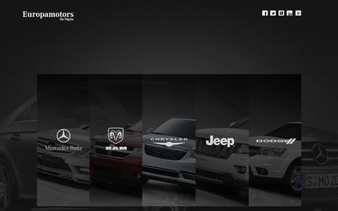 Screenshot of Home Page europamotors.com.br captured Sept. 30, 2014
