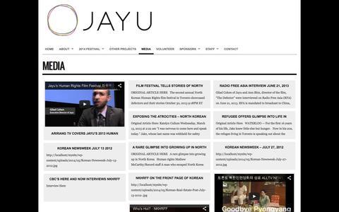 Screenshot of Press Page jayu.ca - Media : Jayu - captured Oct. 6, 2014