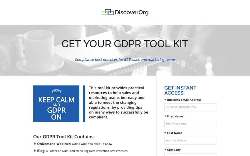 GDPR Toolkit and Compliance Info | DiscoverOrg