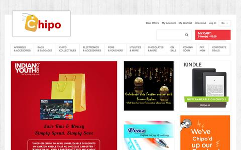Screenshot of Home Page chipo.in - Chipo Online Store India | Chipo.in - captured July 17, 2018