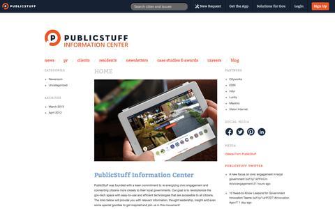 Screenshot of Press Page publicstuff.com - PublicStuff ~ Media - captured Sept. 12, 2014