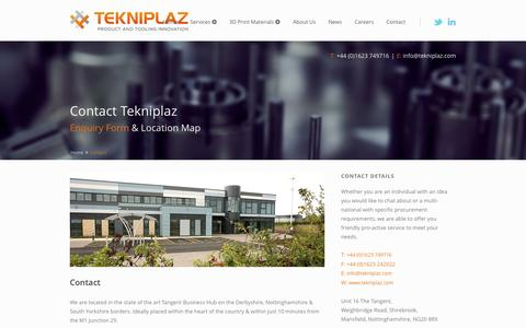 Screenshot of Contact Page tekniplaz.com - Tekniplaz - Contact us - captured Oct. 7, 2014
