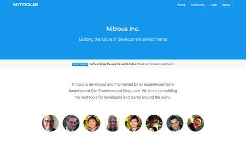About · Nitrous