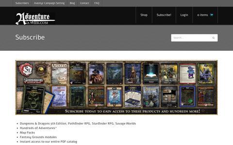 Screenshot of Trial Page adventureaweek.com - Subscribe - Adventureaweek.com - captured Nov. 12, 2018
