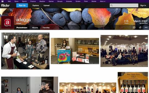Screenshot of Flickr Page flickr.com - Flickr: adegga's Photostream - captured Oct. 23, 2014
