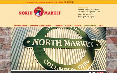 Screenshot of About Page northmarket.com - North Market | Columbus, Ohio | About us - captured Sept. 23, 2014