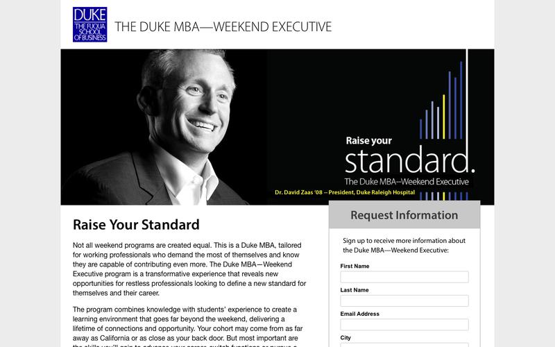 The Duke MBA—Weekend Executive - Request Information