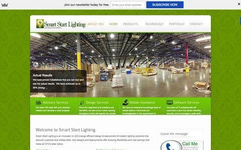 Screenshot of Home Page smartstartlighting.com - Smart Start Lighting - Turn-Key LED SSL Solution - captured Jan. 26, 2015