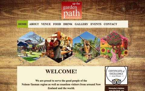 Screenshot of Home Page upthegardenpath.co.nz - Up the Garden Path Cafe-Gallery - captured Feb. 13, 2016
