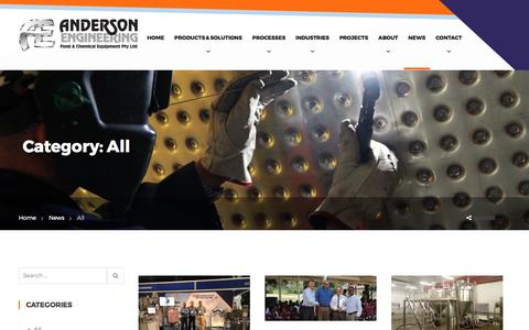 Screenshot of Press Page andersoneng.co.za - All Archives - Anderson Engineering - captured Oct. 7, 2017