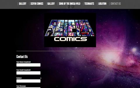 Screenshot of Contact Page scifihi.com - Contact Us - Space Opera at it's Finest! - captured Oct. 6, 2014