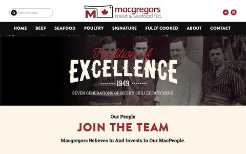 Screenshot of Team Page macgregors.com - Our People | MacGregors - captured Dec. 18, 2016