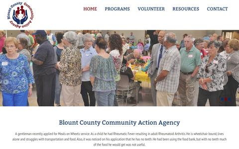 Screenshot of Home Page blountcaa.org - Blount County Community Action Agency - captured Feb. 7, 2016