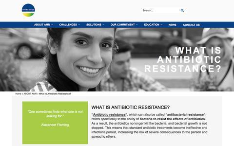 Screenshot of About Page biomerieux.com - What is antibiotic resistance ? | BioMérieux, Antimicrobial Resistance - captured Dec. 12, 2019