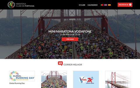 Screenshot of Home Page maratonaclubedeportugal.com - Maratona Clube de Portugal - captured March 1, 2018