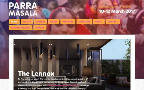 Screenshot of Home Page parramasala.com - Parramasala - captured May 14, 2017
