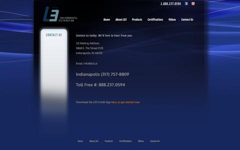 Screenshot of Contact Page le3.us - Contact Us   le3.com - captured Oct. 1, 2014