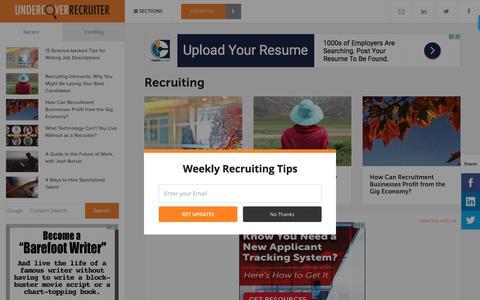 Recruiting - Undercover Recruiter