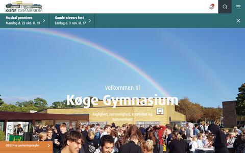 Screenshot of Home Page kggym.dk - Køge Gymnasium - captured Oct. 16, 2018